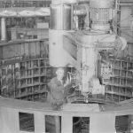 Обработка сегмента статора гидрогенератора
