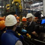 Visit of the governor to production
