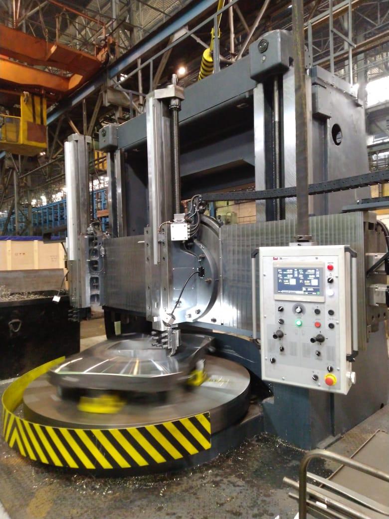 На заводе ЭЛСИБ запущен модернизированный токарно-карусельный станок